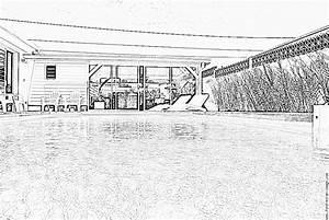 Dessin De Piscine : coloriage de maison de luxe avec piscine ~ Melissatoandfro.com Idées de Décoration