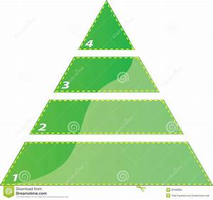 Four Steps Triangle Diagram Stock Vector