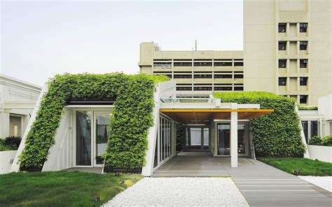 sk yee healthy life center green roof design by ronald lu and partners