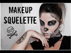 Maquillage Squelette Facile : 2 squelette maquillage halloween facile skeleton ~ Dode.kayakingforconservation.com Idées de Décoration