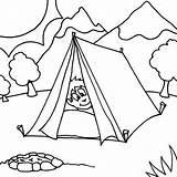 Tent Coloring Camping Boy Sleeping Sheet Printable Camp Template Coloringsun Through Getcolorings Sheets Preschool Boys Bear Printer Button Children sketch template
