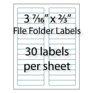 Avery Template 5366 For Word by File Folder Labels 3 7 16 Quot X 2 3 Quot 30 Up Avery 174 5366