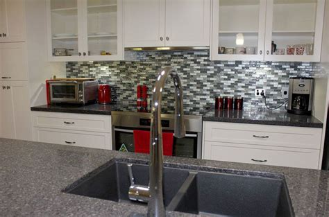 mosaic tiled splashback kitchen brilliant splashback style narangba kitchen renovation 7868