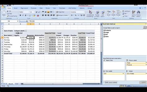 what s a pivot table excel pivot table tutorial youtube