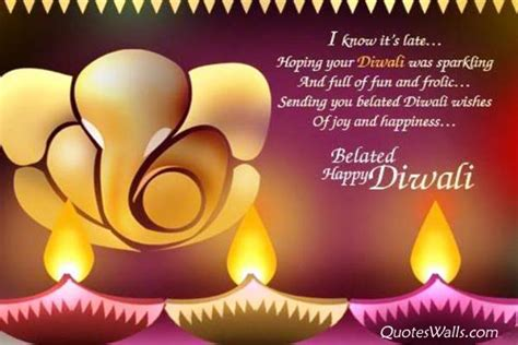 belated happy diwali wishes quotes sms message