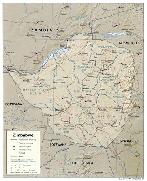 maps  zimbabwe