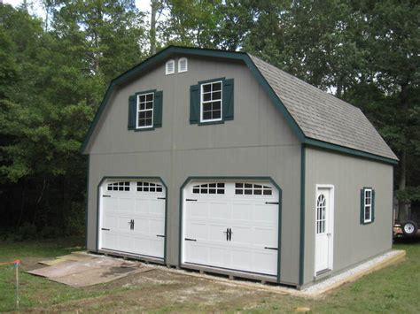 amish  double wide garage gambrel roof structure ebay