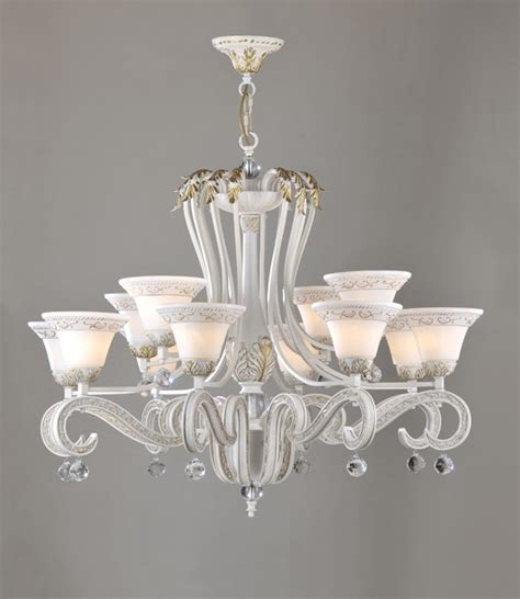 12 light white with gold modern chandeliers for sale