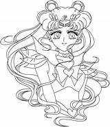 Sailor Coloring Moon Pages Printable Sheets Colouring Anime Princess Drawing Coloring4free Bestcoloringpagesforkids Chibi Hair Books Adult Crystal Sailormoon Serenity Getdrawings sketch template