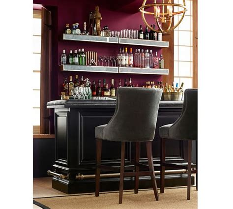 bar architects our work pottery barn hayes tufted barstools pottery barn pertaining to bar mirror with shelf plan 15 tubmanugrr com