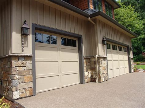 stone veneer installation   existing metal garage