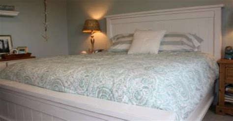 queen size headboard and footboard in white much