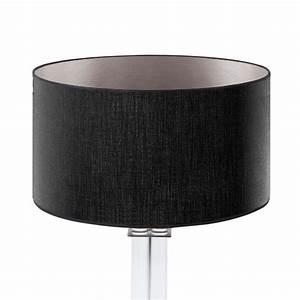 Lampenschirm 40 Cm : lampenschirm schwarz silber rund 40 x 20 cm online shop direkt vom hersteller ~ Pilothousefishingboats.com Haus und Dekorationen