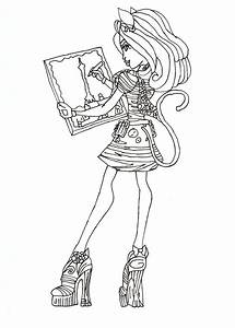 Free Printable Monster High Coloring Pages  Catrine De Mew