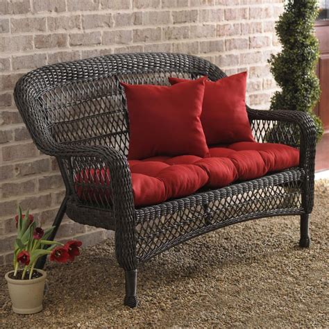 Outdoor Settee by Brown Wicker Settee Settees Take A And