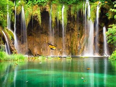 Waterfall Animated Waterfalls Wallpapers Nature Water Forest