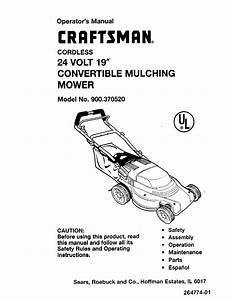 Craftsman Lawn Mower 900 370520 User Guide