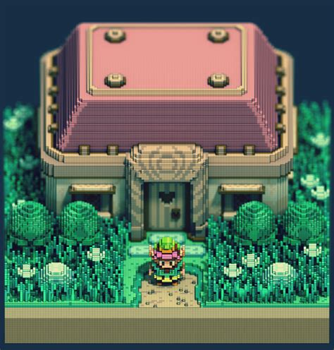 Fan Art 3d Pixel Legend Of Zelda A Link To The Past