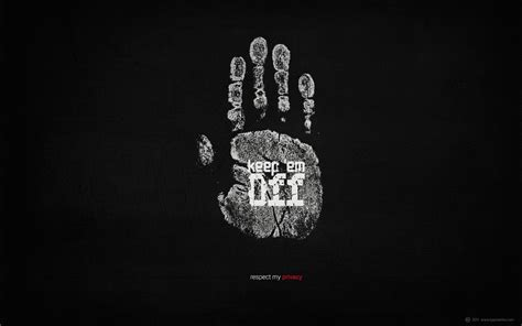 Hands Typography Respect Black Background Palm Prints