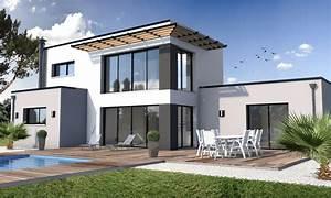 construction de maison moderne mc immo With photos de maison moderne