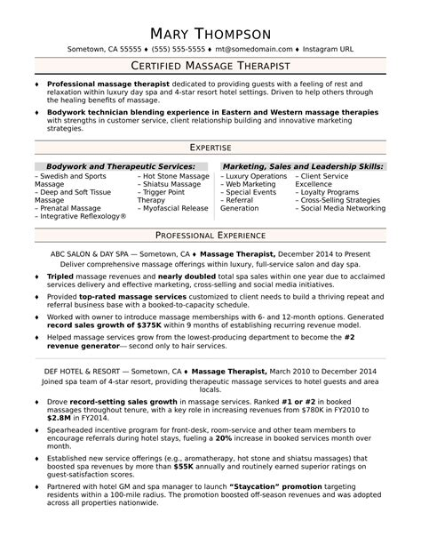 Therapist Resume by Therapist Resume Sle