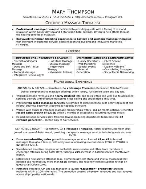 Resume For Therapist by Therapist Resume Sle Diplomatic Regatta
