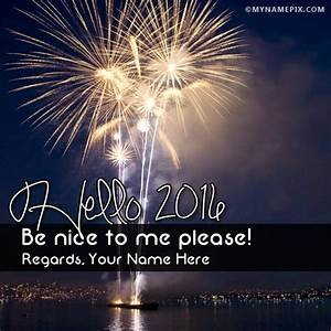 Hello 2017 Wishes With Name