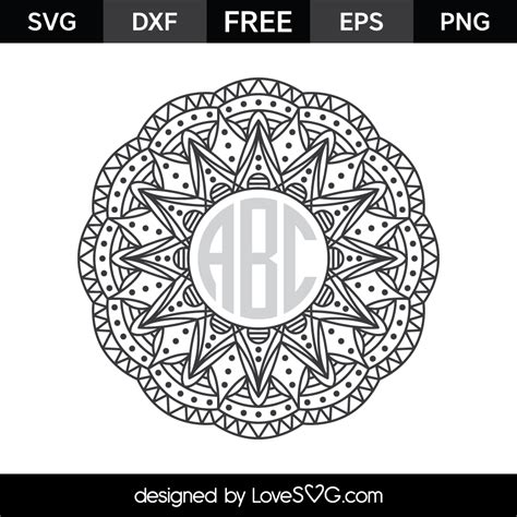 You can copy, modify, distribute and perform the work, even for commercial purposes, all without asking permission. Mandala Monogram Frame | Lovesvg.com