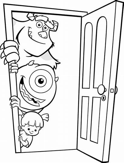 Coloring Monsters Pages Company Inc Disney Funny