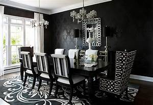 How to Use Black to Create a Stunning Refined Dining Room