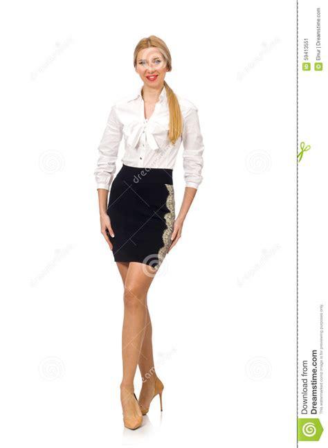 abbigliamento ufficio donna donna in abbigliamento classico dell ufficio isolato su