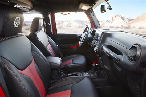 jeep red interior the jeep wrangler red rock responder concept blazes a