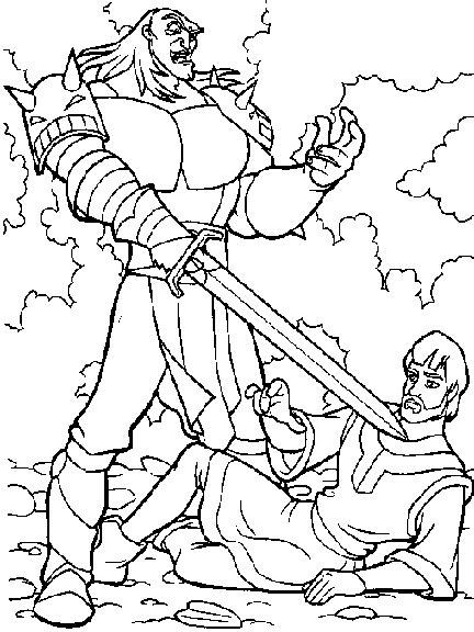 Coloring Quest by Quest For Camelot Coloring Pages 004 Gif 432 215 576 The