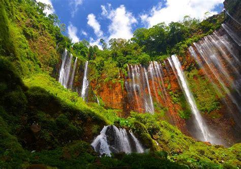 destinasi wisata air terjun  lumajang  indah