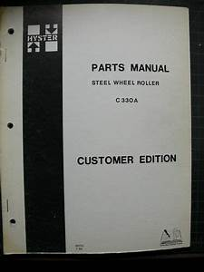 Hyster C330a Roller Parts Manual Book Compactor List B