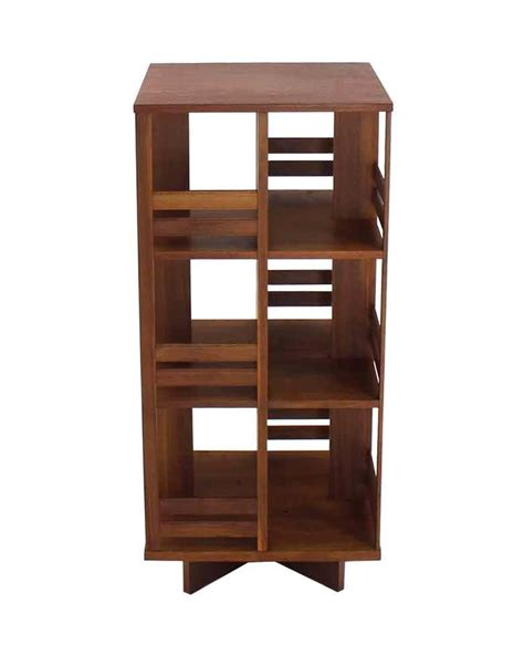 Revolving Danish Mid Century Modern Bookcase For Sale At
