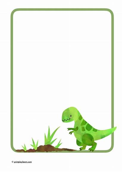 Dinosaur Writing Paper Printable Eyfs Resources Learn