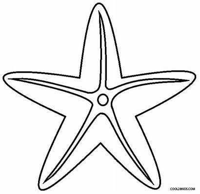 Starfish Coloring Pages Printable Drawing Cool2bkids Star
