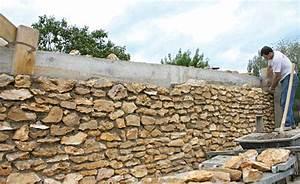 Construire Un Mur En Pierre : fabriquer un mur de cl ture en pierres jardin building ~ Melissatoandfro.com Idées de Décoration