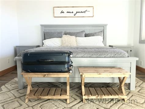 ana white upgraded luggage rack  suitcase stand