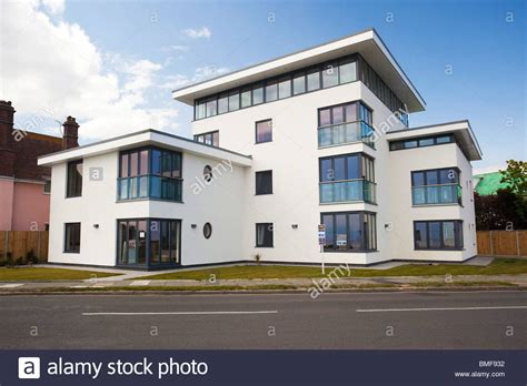 modern deco homes modern deco style house at frinton on sea essex uk stock photo royalty free image