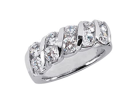 2.50ct Diamond Wedding Band Ring Platinum Round Brilliant