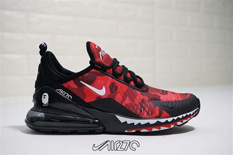 Bape A Bathing Ape X Nike Air Max 270 Black University Red
