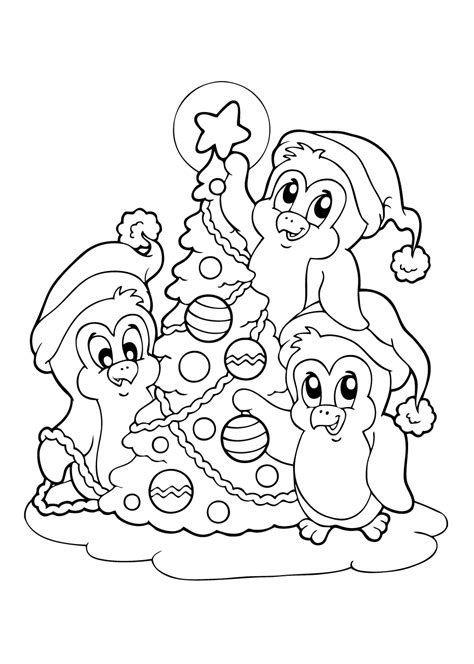 Kleurplaat Piguins by De Allermooiste Kerst Kleurplaten Tijd Met Kinderen