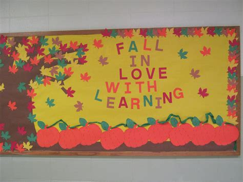 Bullentin Board For The Hallway At School. The Leaves And