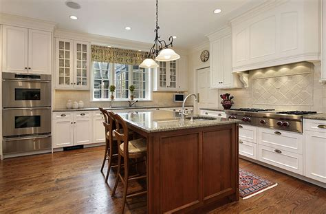 white kitchen wood island country kitchen cabinets ideas style guide designing 1425