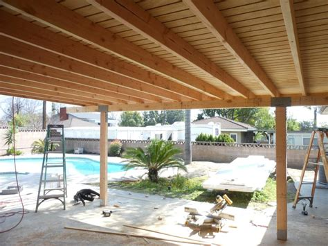 covered patio solid covered patio 3 paneled plywood