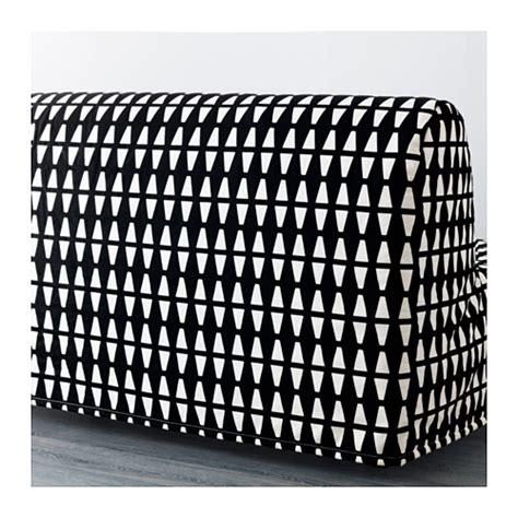 Lycksele Chair Bed Cover Pattern by Lycksele H 197 Vet Two Seat Sofa Bed Ebbarp Black White Ikea