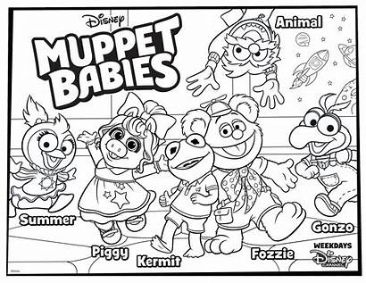 Disney Muppet Coloring Babies Pages Printable Muppets