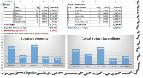 budget  excel personal finance tutorial